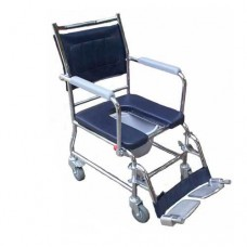 Transport commode wheelchair